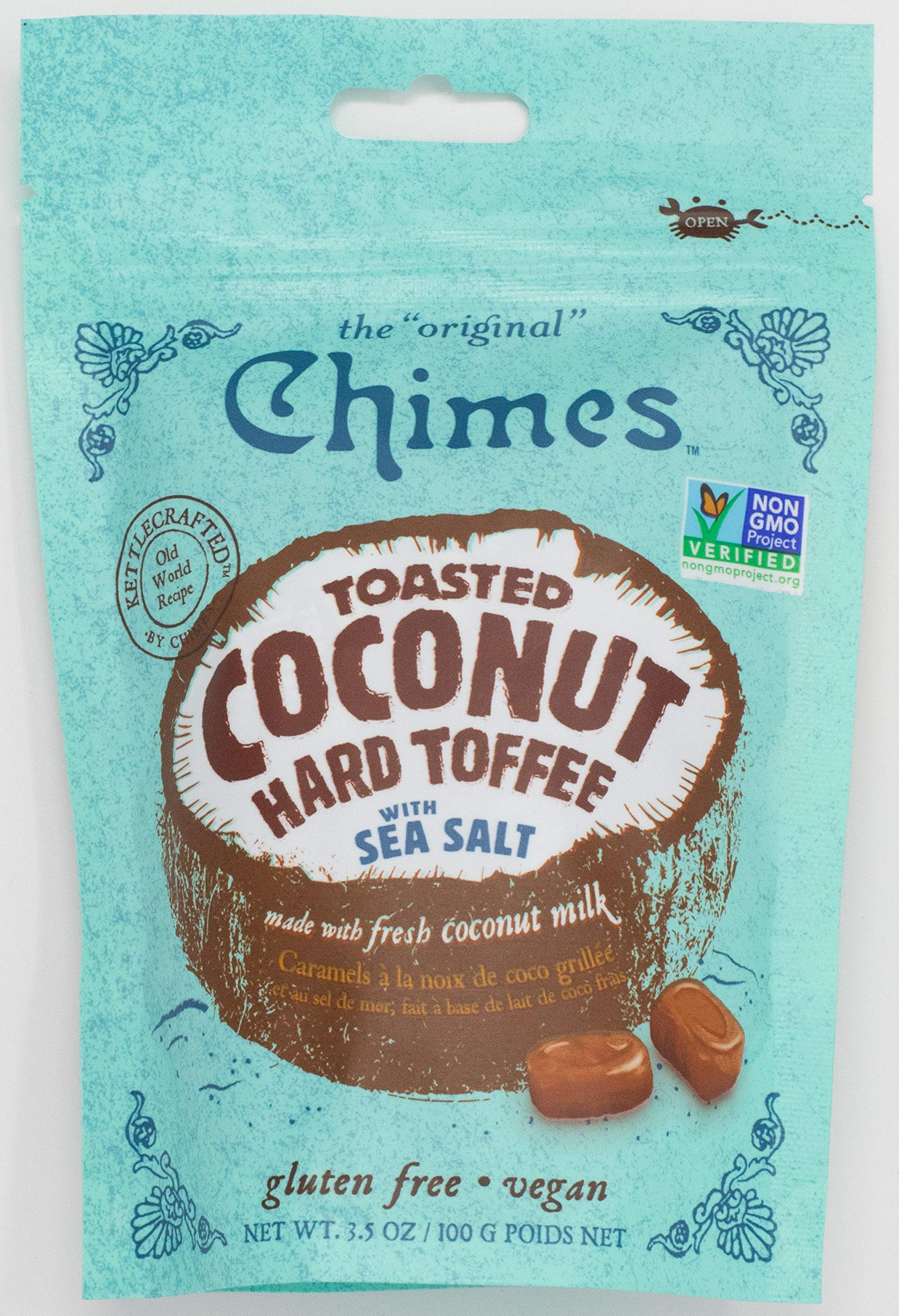 Chimes Toasted Coconut Toffee with Sea Salt, 3.5 Ounce (Pack of 12) by Chimes
