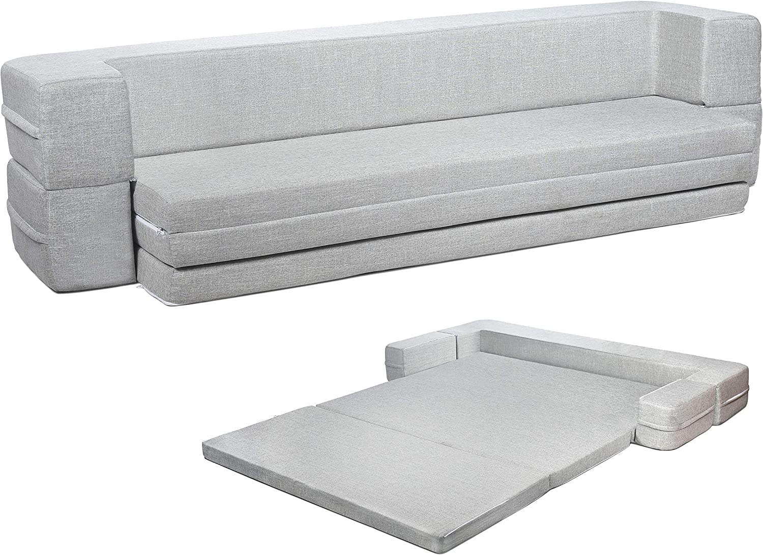 - Amazon.com: Milliard Daybed Sofa Couch Bed Queen To Twin Folding
