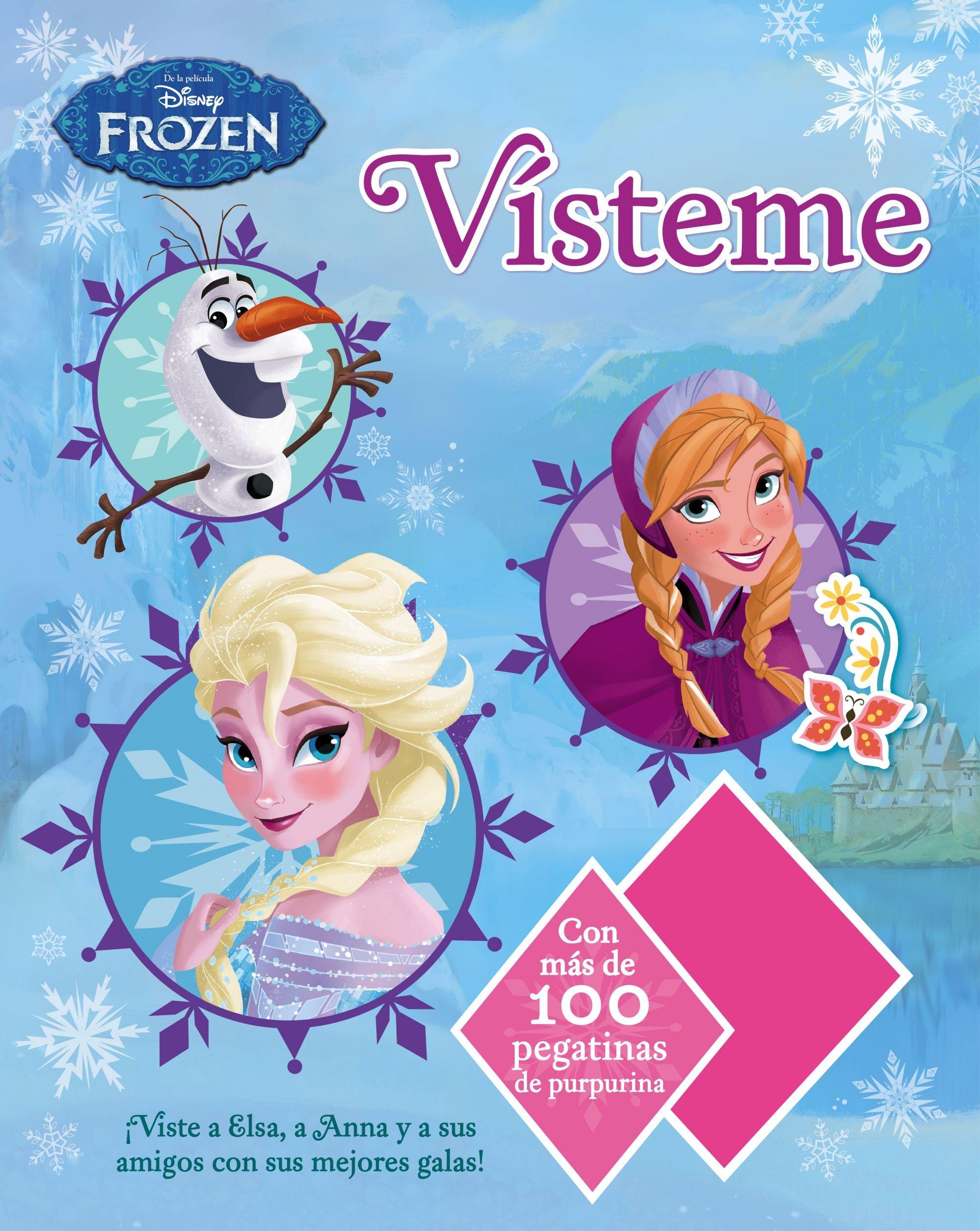 Frozen. Vísteme: Con más de 100 pegatinas con purpurina Disney. Frozen: Amazon.es: Disney, Editorial Planeta S. A.: Libros