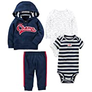 Simple Joys by Carter's Baby Boys' 4-Piece Little Jacket Set, Navy Champ, 0-3 Months