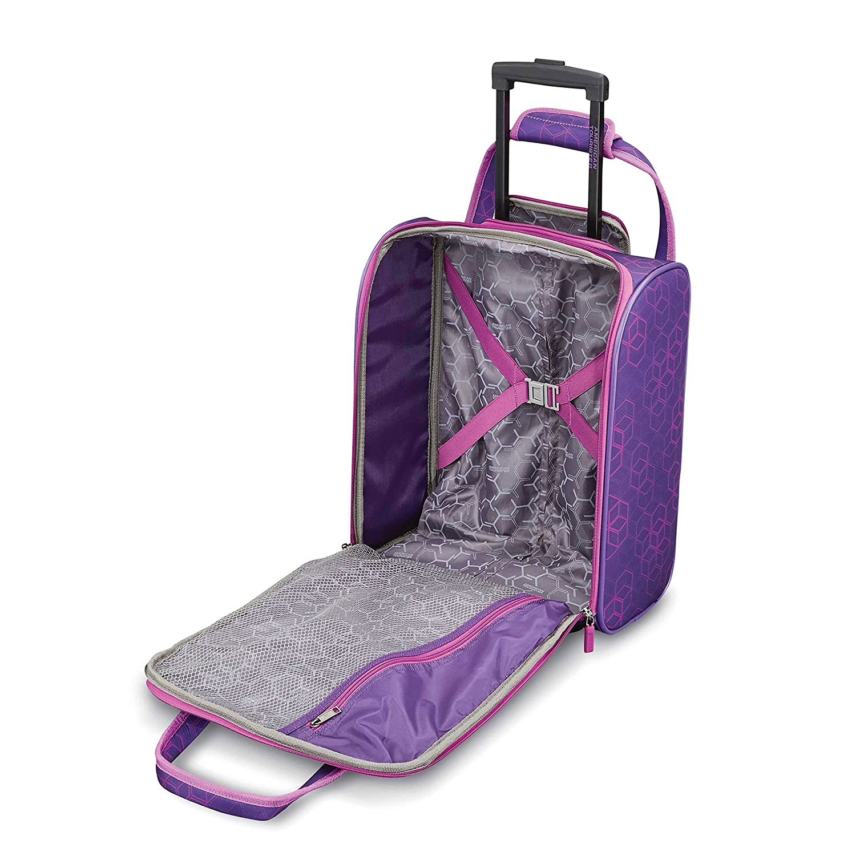 025ca1595 Amazon.com | American Tourister Sonic Rolling Tote Purple Print | Luggage