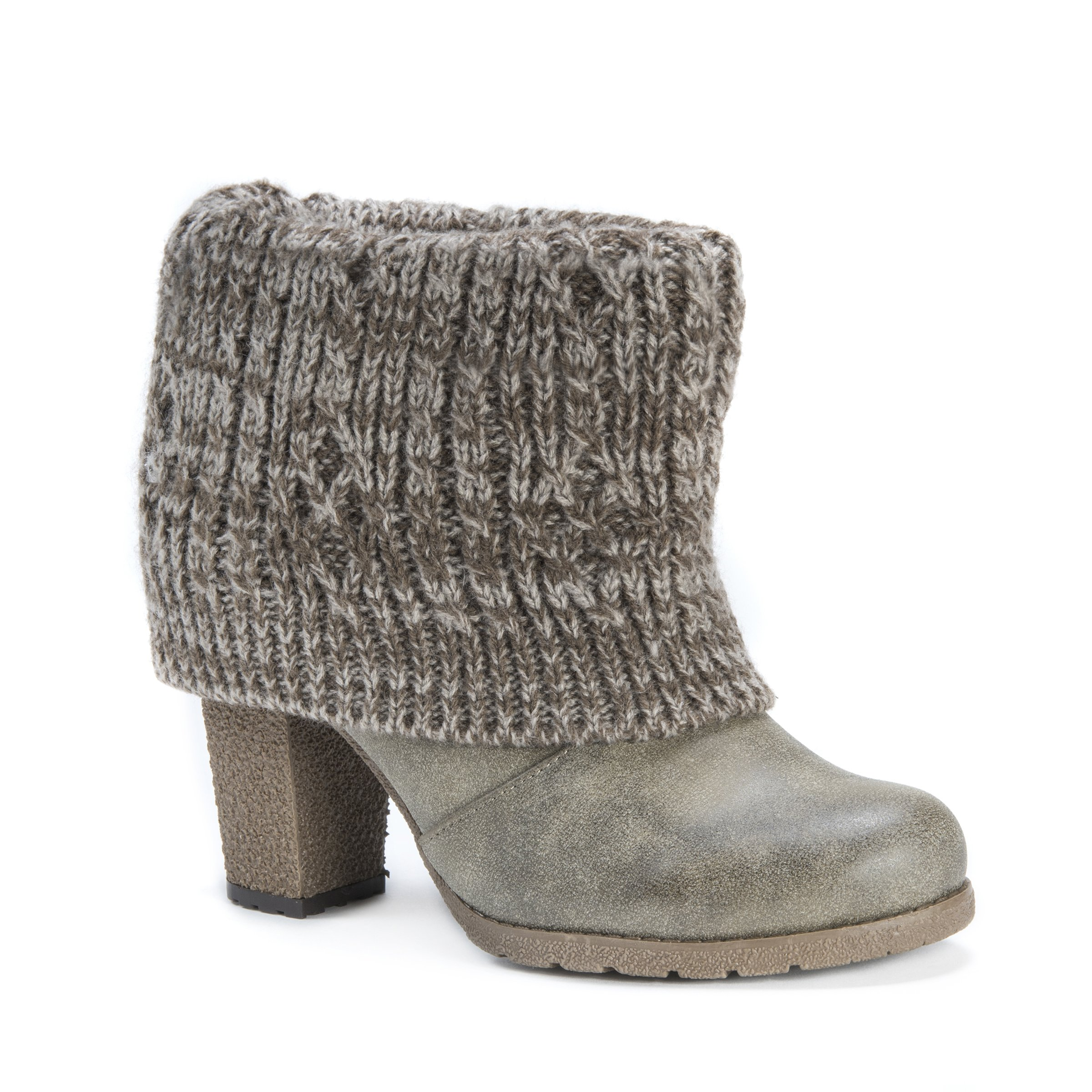 MUK LUKS Women's Chris Boot Ankle Bootie, Moccasin, 9 M US