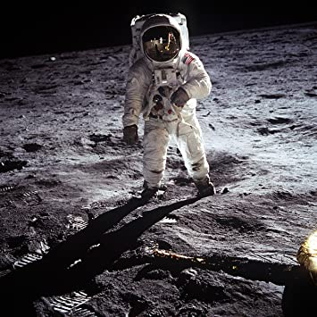 Amazon.com: NASA Buzz Aldrin on the Moon Giant XL Poster Photo USA ...
