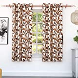 Story at Home Window Curtain, Cream/Brown, 118 x 152 cm, WGY2011, 2 Pieces