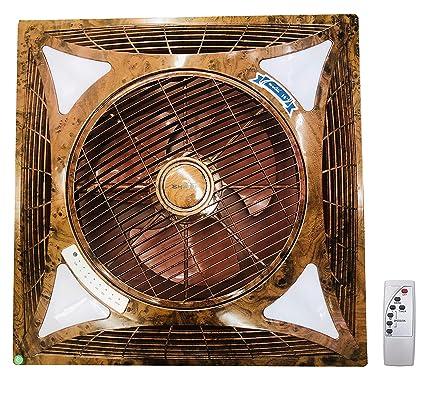 Premium Recessed False Ceiling Cassette Fan Brown With Led