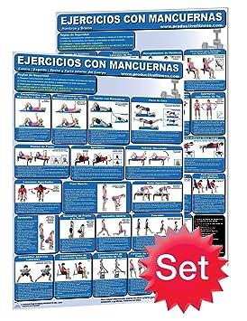 Ejercicios con Mancuernas # 1. – Hombros y brazos y # 2. Centro/