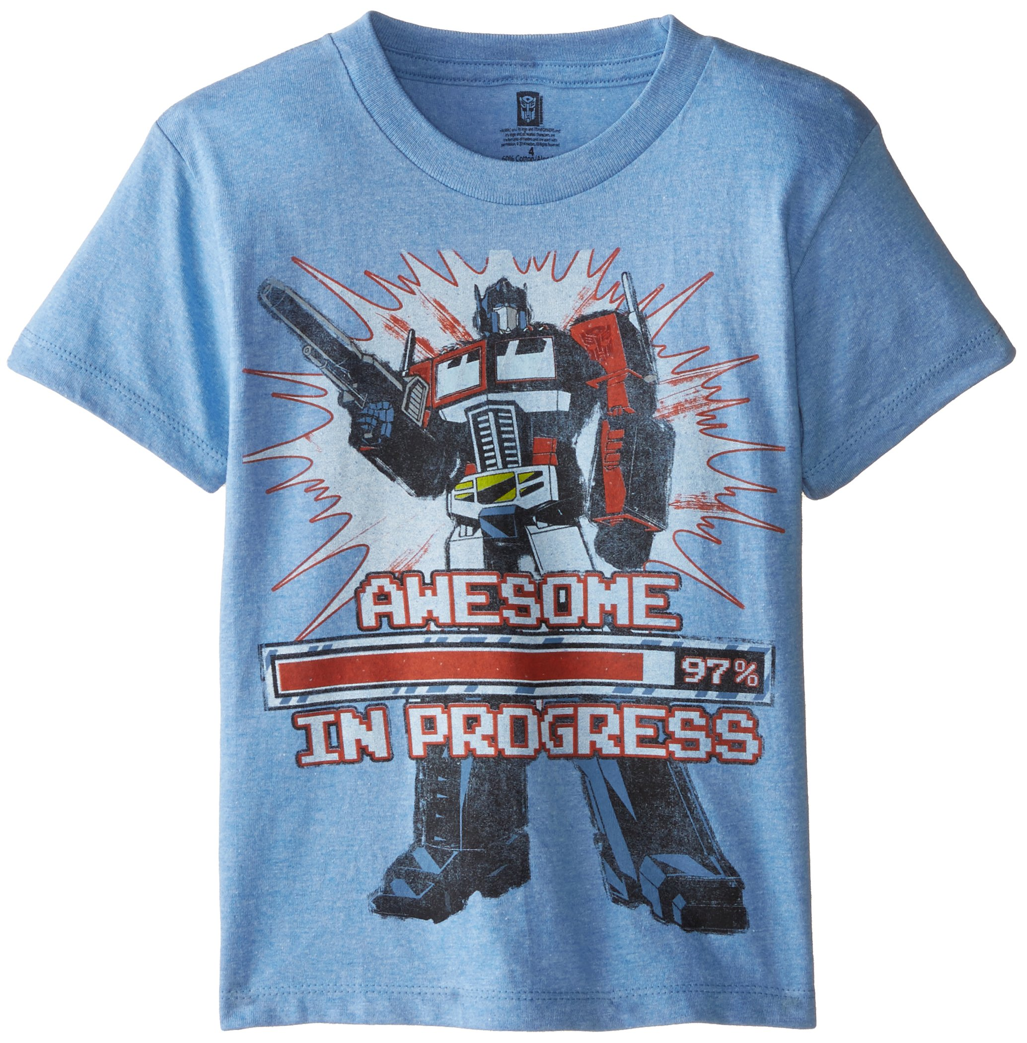 Transformers Little Boys Optimus Prime T Shirt Shirt Light Blue