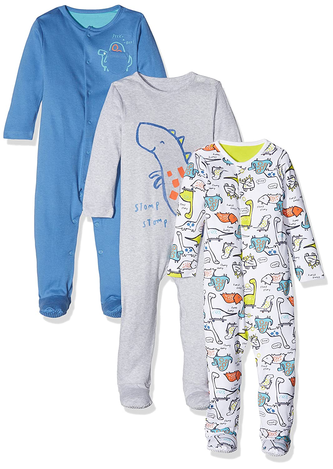 Mothercare Baby Boys' Play Nice Dino Sleepsuit PD319