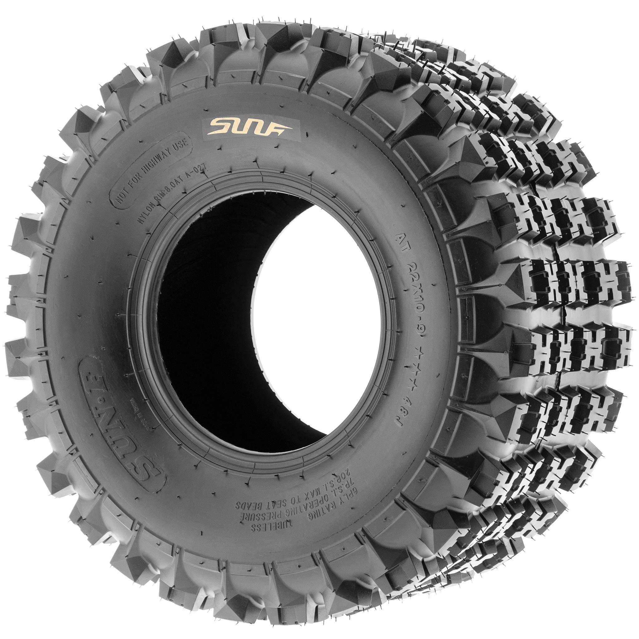 SunF 18x10.5-8 18x10.5x8 ATV UTV All Terrain Race Replacement 6 PR Tubeless Tires A027, [Set of 2] by SunF (Image #4)