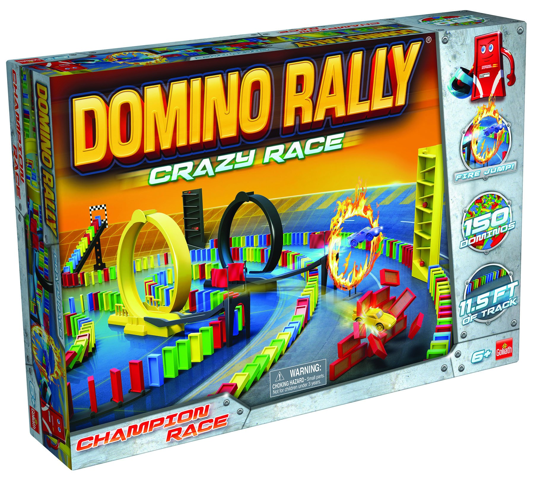 Domino Rally Crazy Race - Dominoes for Kids - STEM-based Learning Set by Goliath