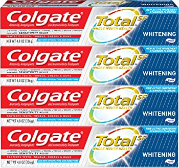 4-Pack Colgate Total Whitening Toothpaste (4.8-ounce)