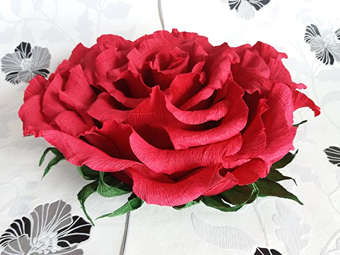 Giant crepe paper roselarge crepe paper flowershome decorwall giant crepe paper roselarge crepe paper flowershome decorwall decor mightylinksfo