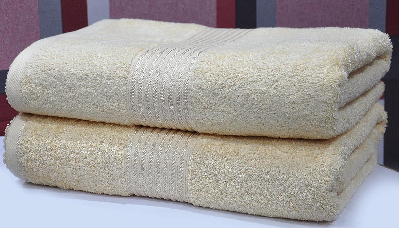 Eurospa 2 pcs toalla de baño Art juego de toallas Plain: Amazon.es: Hogar