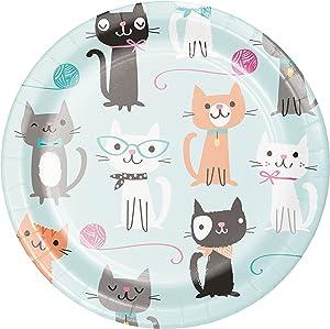 Cat Party Dessert Plates, 24 ct