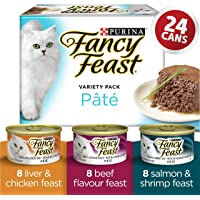 Fancy Feast Wet Cat Food, Assorted Pâté Variety Pack 85 g Cans (24 pack)