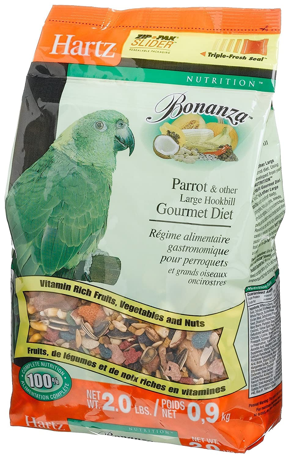 Hartz Bonanza Parrot Gourmet Diet 2 Pound Supply