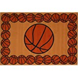 Fun Rugs FT 93 1929 Basketball Time Accent Rug, 19 Inch By 29