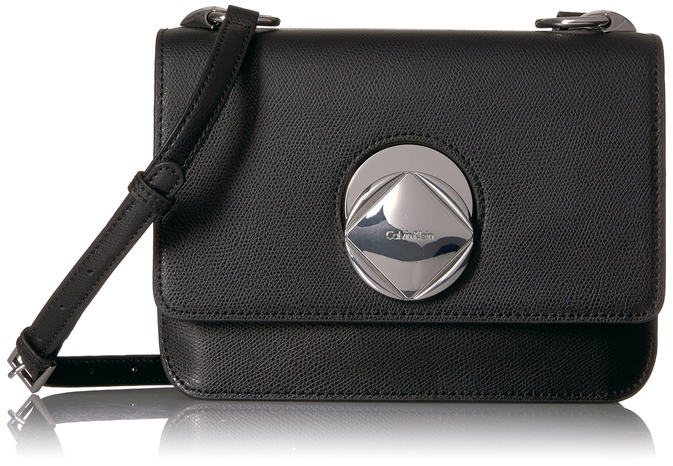 Calvin Klein Reese Mercury Structured Flap Crossbody