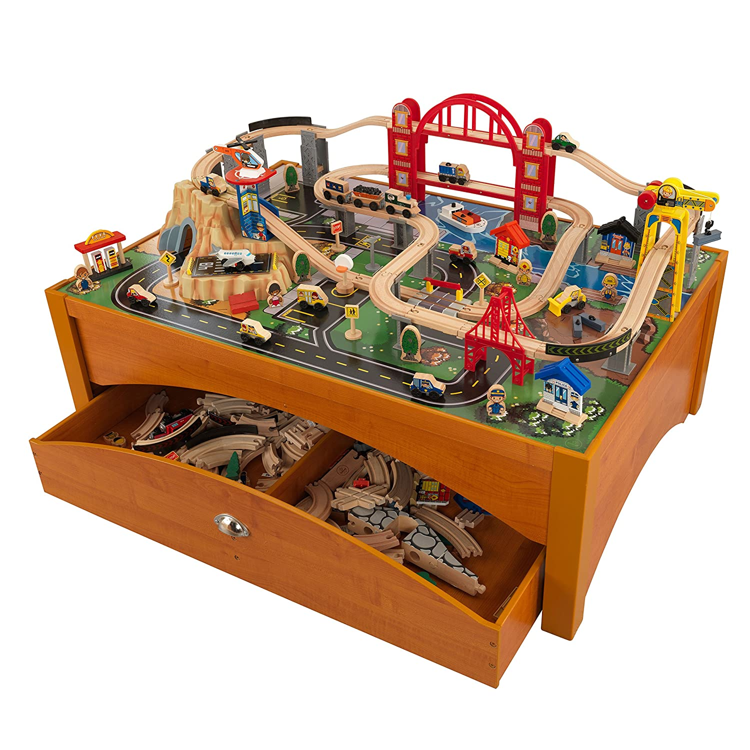 Genial Amazon.com: KidKraft Metropolis Train Set And Honey Table Train: Toys U0026  Games