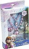 Disney Frozen Elsa & Anna Girls Jewelry set: Bracelet, Necklace & 2 rings 2015 Collection - mauve