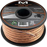 Mediabridge 14AWG 2-Conductor Speaker Wire (50 Feet, Clear) - Spooled Design with Sequential Foot Markings (Part# SW-14X2-50-CL )