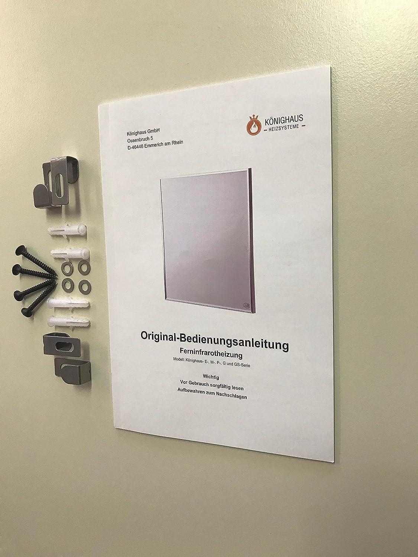 Könighaus Infrarotheizkörper - Montagematerial
