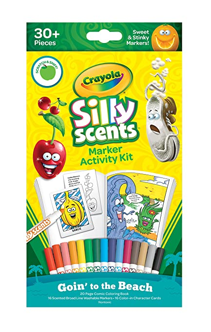 Amazon.com: Crayola Silly Scents Markers Activity, Coloring Book ...