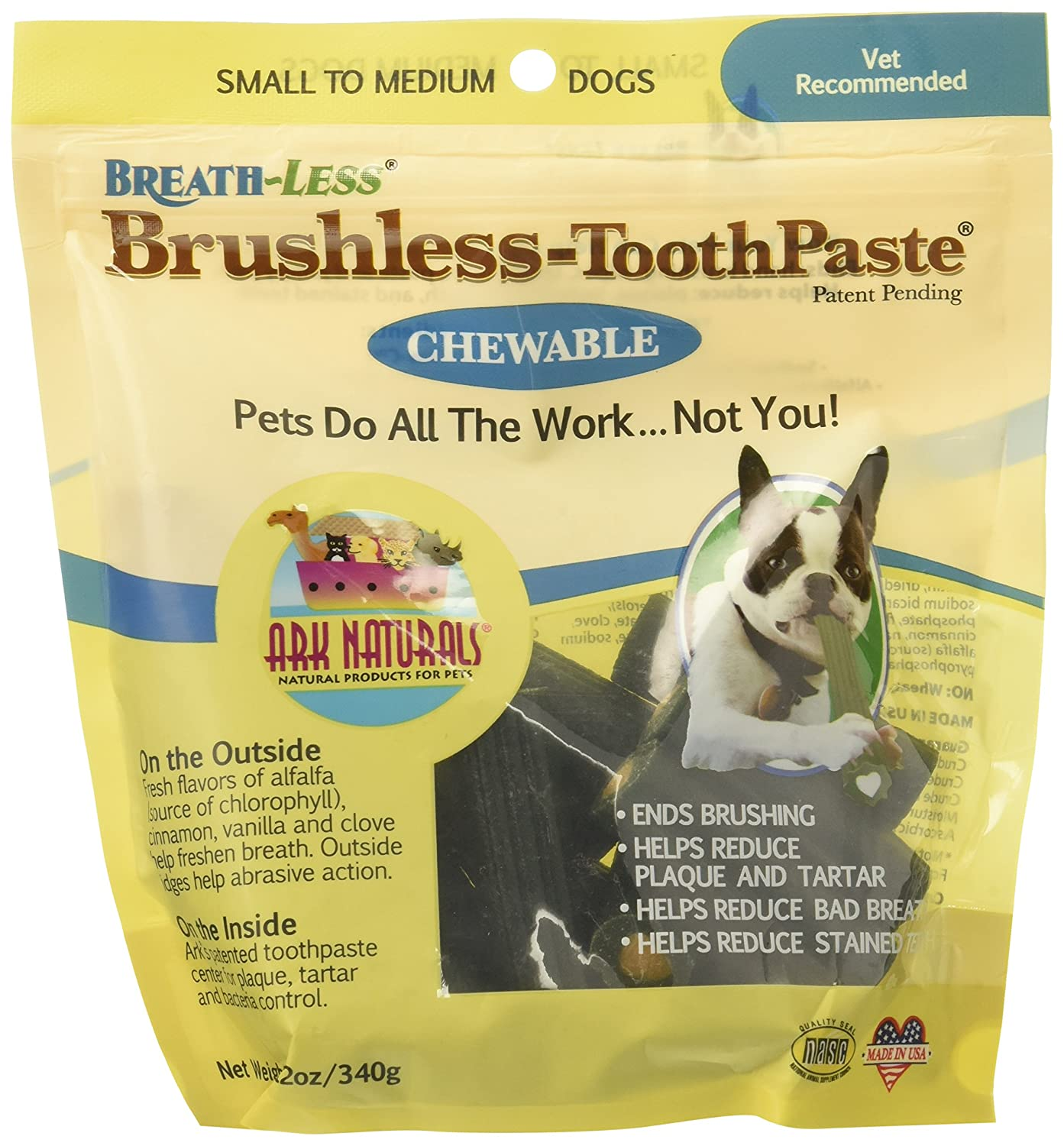 Ark Naturals Brushless Toothpaste for Small Medium Dogs, 12 oz (Pack of 6)