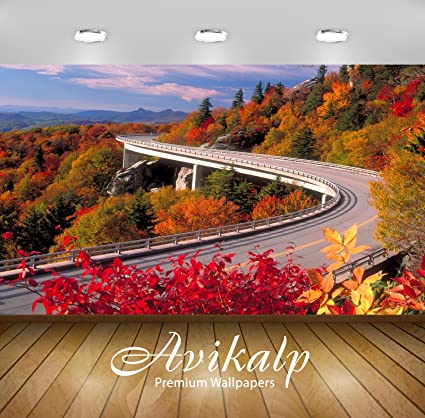 Avikalp Exclusive Awi1669 Beautiful Scenery Road Full Hd 3D Wallpapers 6 X 5 Ft