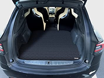 Amazon Com Toughpro Cargo Trunk Mat Accessories Compatible With Tesla Model X 6 Or 7 Seater All Weather Heavy Duty Made In Usa Black Rubber 2017 2018 2019 2020 Automotive