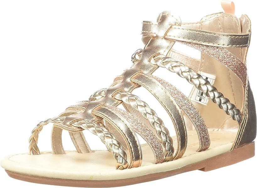 4ab6ff860d7 Amazon.com: Carter's Smile Girl's Gladiator Sandal, Rose Gold, 5 M ...