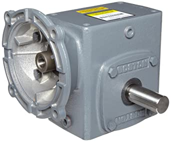 Boston Gear F724B30KB5H Right Angle Gearbox 1.34 HP and 1200 in-lbs Output Torque at 1750 RPM 2.38 Center Distance Left and Right Output NEMA 56C Flange Input 30:1 Ratio
