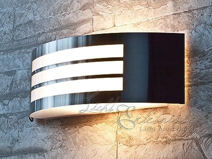 LED Außenlampe Design Außenleuchte Gartenlampe Wandlampe Edelstahl Gartenleuchte
