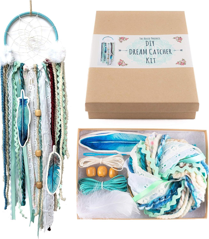 light blue DIY Dream Catcher Craft kit  How to make your own Dream Catcher  pink light blue
