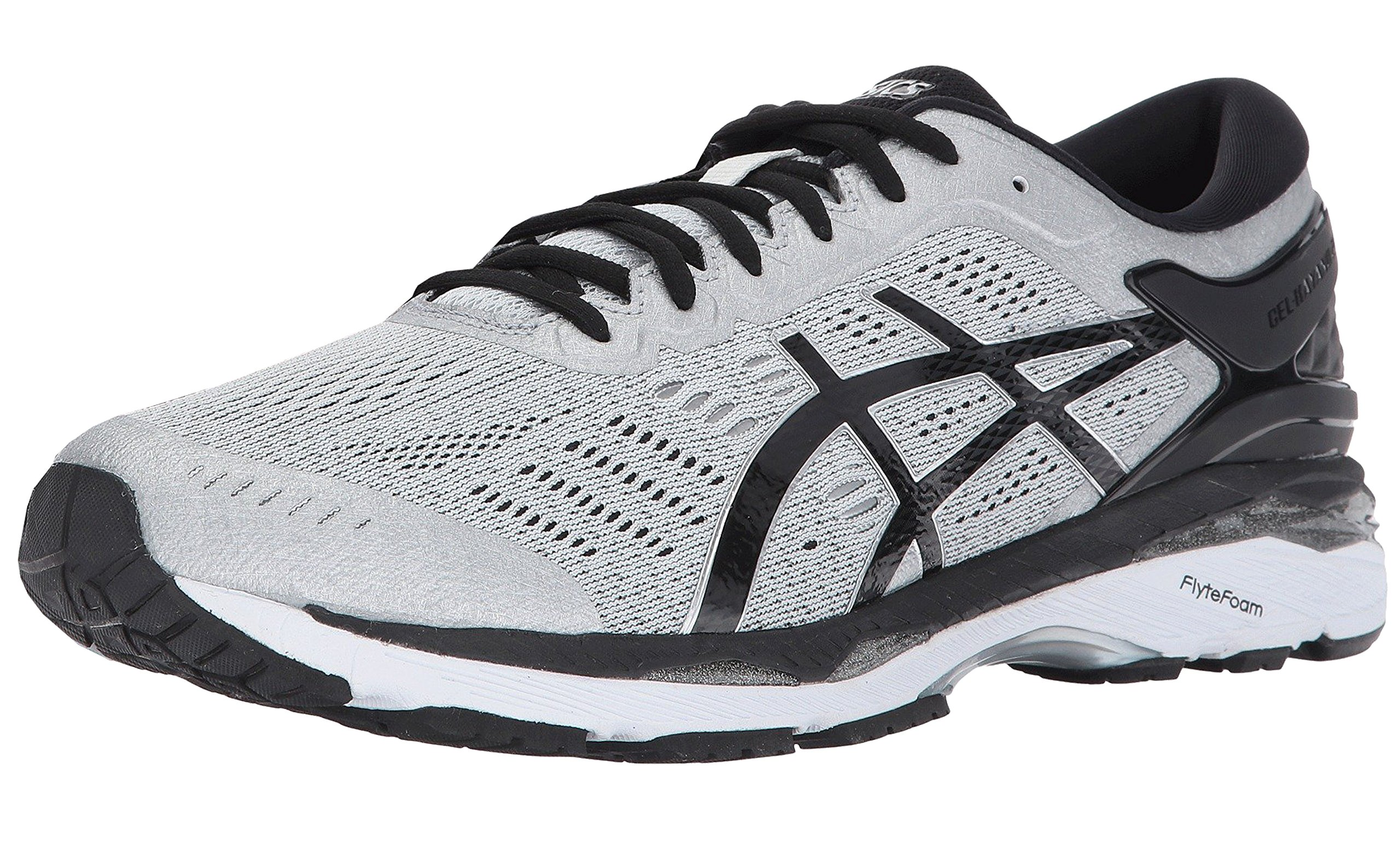 ASICS Men's Gel-Kayano 24 Running Shoe, Silver/Black/Mid Grey, 10 4E US by ASICS