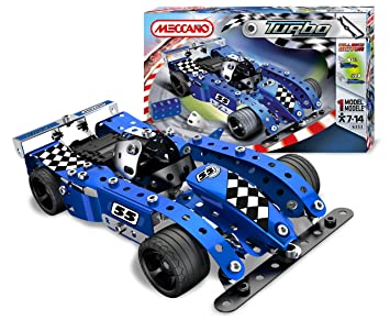 Meccano 886353 - Turbo Evolution, macchinina da corsa, colore: Blu ...