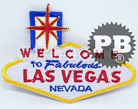 Welcome To Las Vegas Embroidered Patch Iron//Sew-On Applique Travel Souvenir