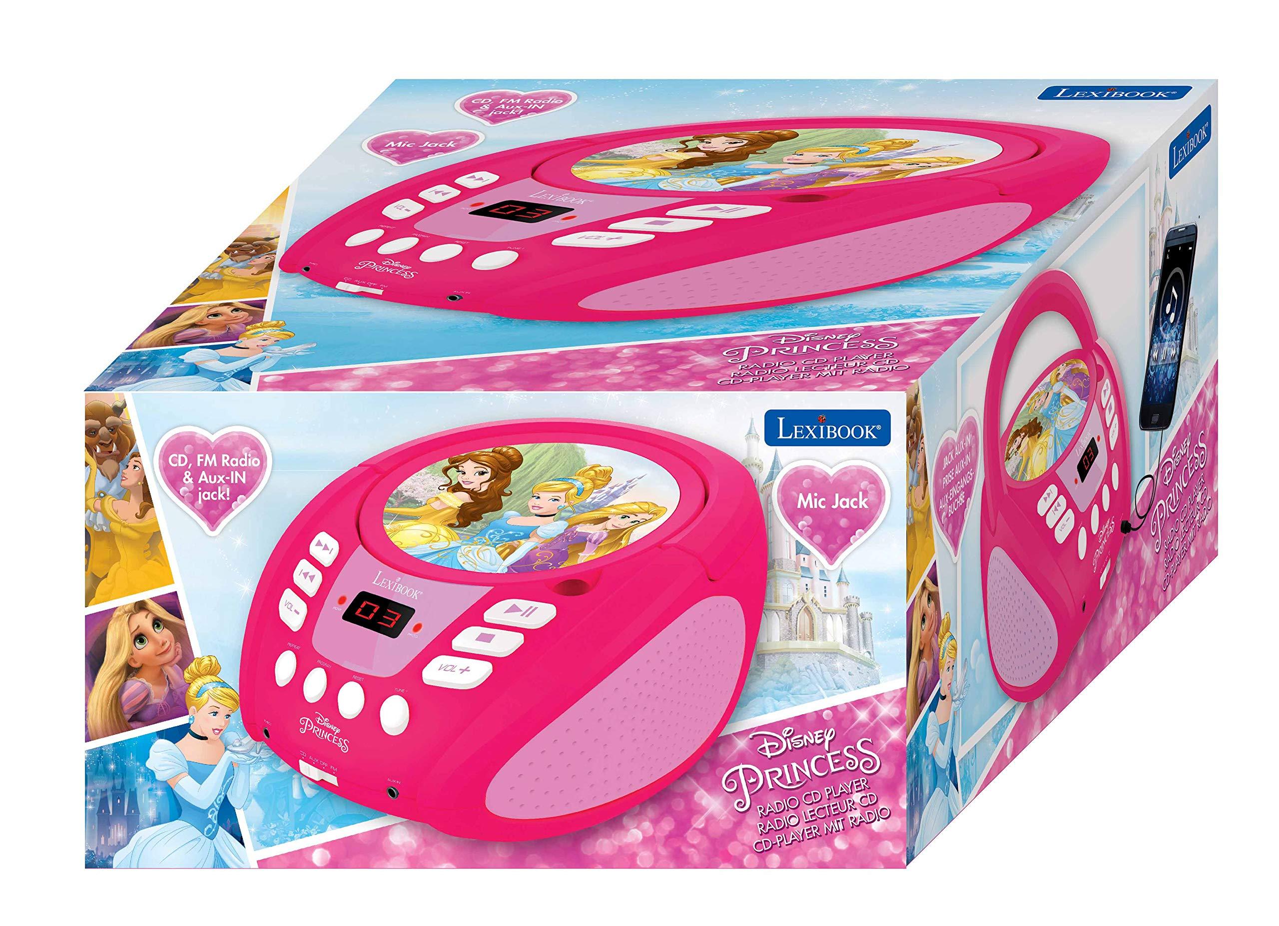 LEXiBOOK Disney Princess Boombox Radio CD Player by LEXiBOOK (Image #6)