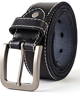 3ZHIYI Cuir pleine fleur style décontracté Jeans ceintures pour hommes,35mm  Noir Marron c3f29810f30