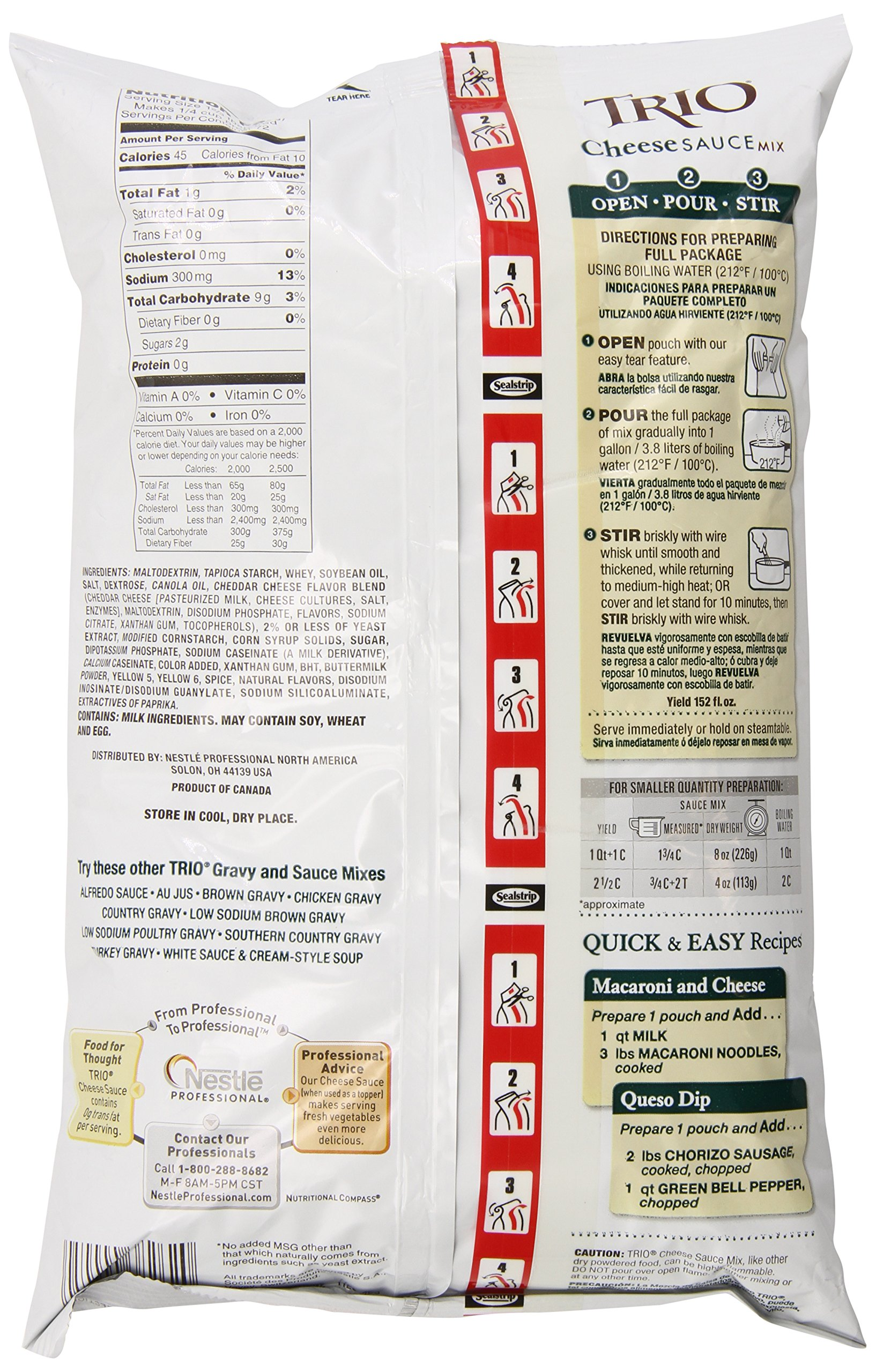 Trio Cheese Sauce Mix, 32-Ounce Units (Pack of 4) by Trio (Image #4)