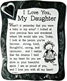 """Sculpted Magnet: I Love You My Daughter, 3.0"""" x 3.5"""""""