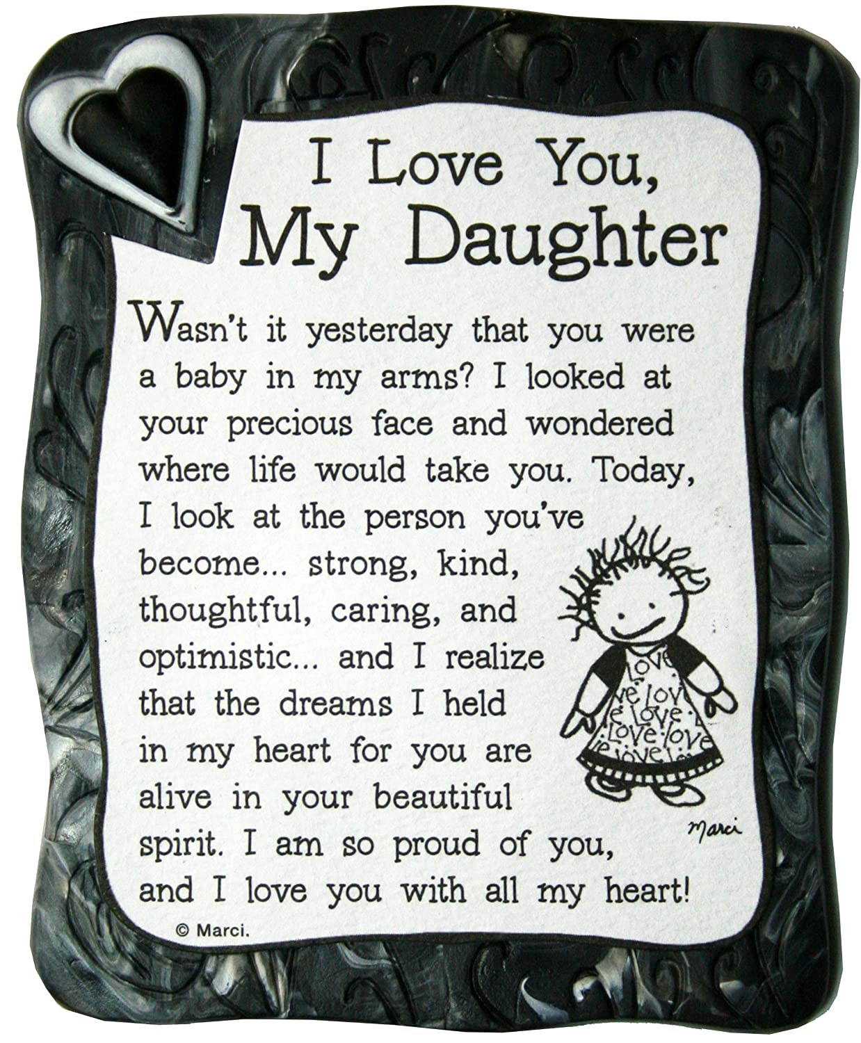 Amazoncom Sculpted Magnet I Love You My Daughter 30 X 35