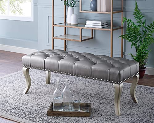Roundhill Furniture Maxem Tufted Faux Leather Upholstered Seat