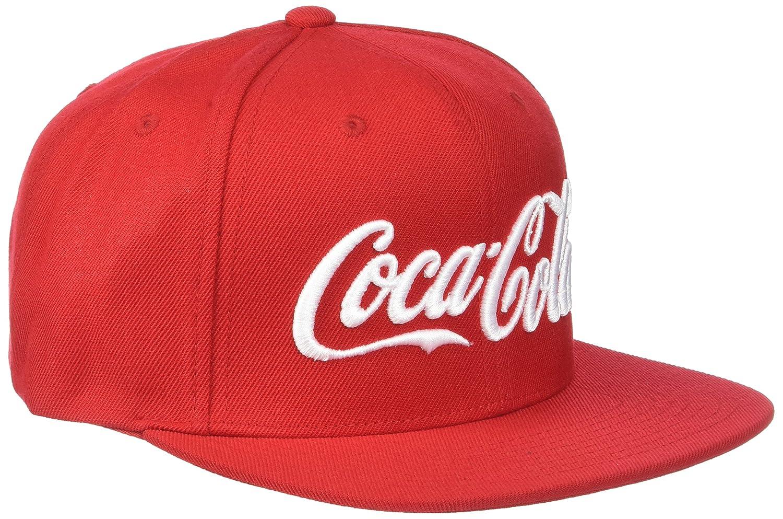 MERCHCODE Coca Cola Logo–Cappellino Unisex Berretto da baseball per uomo e donna, colore rosso, taglia unica MC071