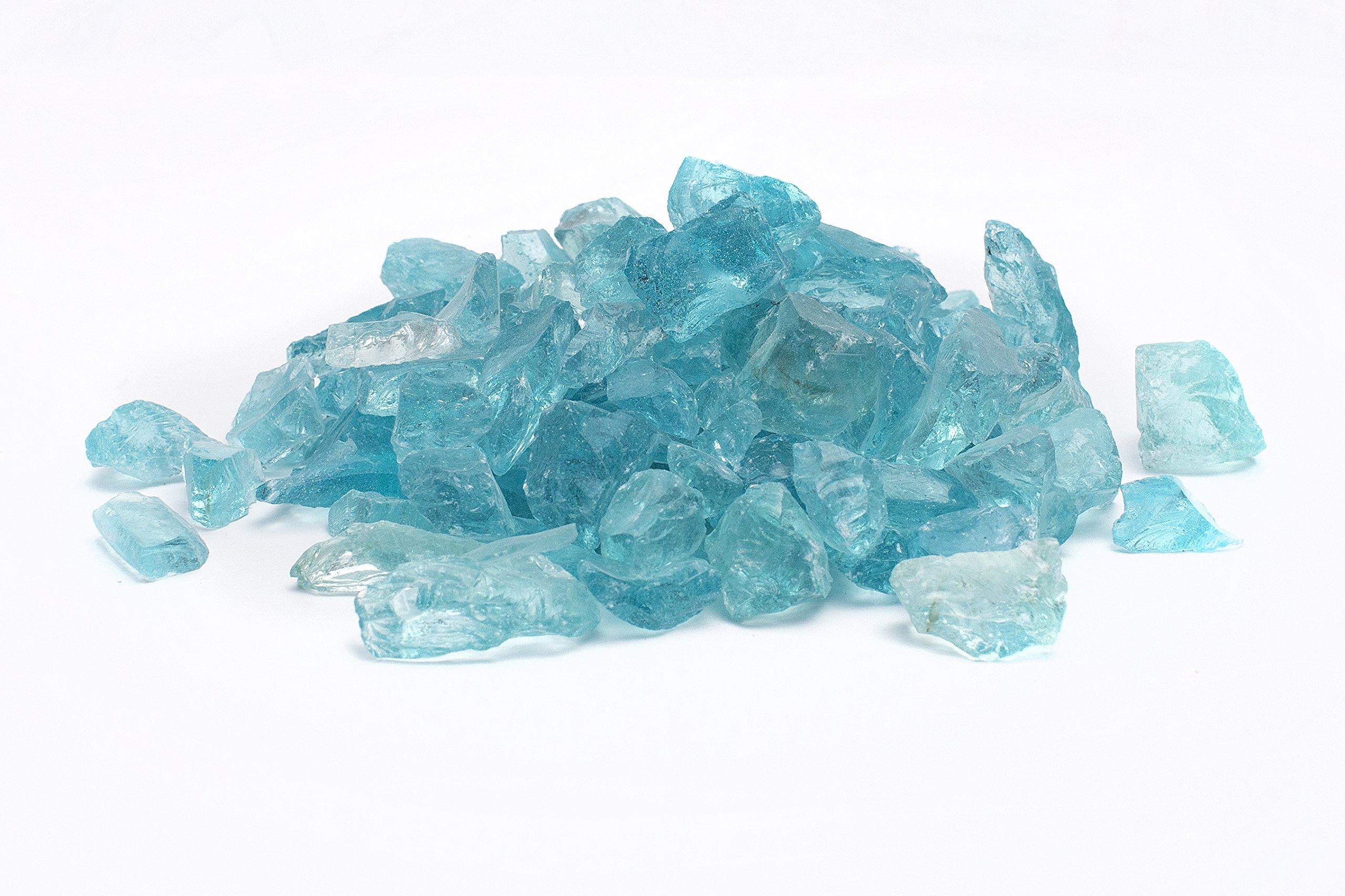 Rainforest 1/2'' 25 lb. Caribbean Blue Landscape Glass