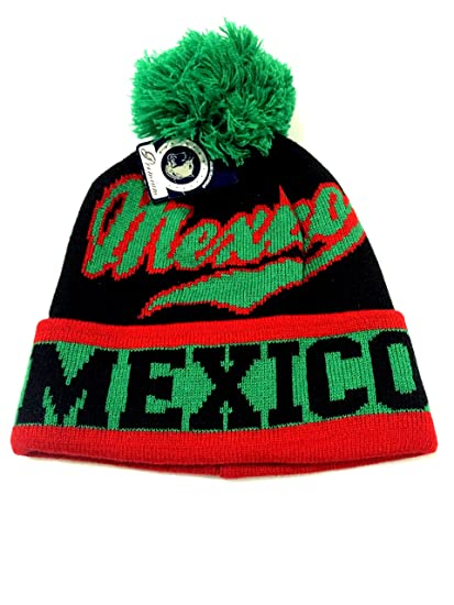 Amazon.com   MEXICO BLACK GREEN RED BEANIE SELECCION MEXICANA (OSFM ... 4b0fbc081