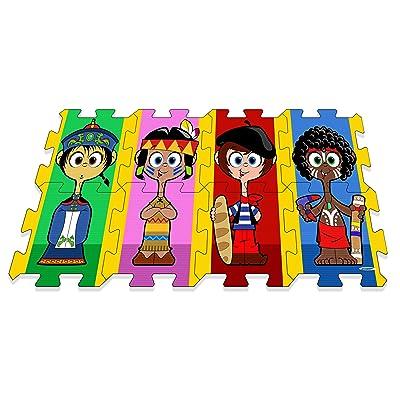 Stamp Tp674003 - Puzzle De Sol - TAPIS MOUSSE - Je Joue Avec Les Enfants Du Monde - Tapis Mousse - 117 X 60 X 1,5 Cm - 8 Pièces