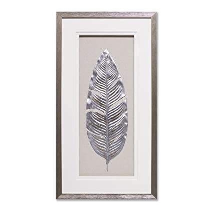 How To Decorate A Shadow Box Interesting Amazon Silver Leaf Framed Wall Art Shadow Box Modern Home Decor