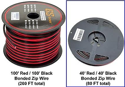 GS Power 16 Gauge CCA Copper Clad Aluminum Bonded Zip Cord Speaker on