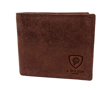 4972c5933e27 RFID BLOCKING Protection Distressed Brown Genuine Leather J Wilson London  Mens Wallet With Zip Coin Pocket Gift Boxed